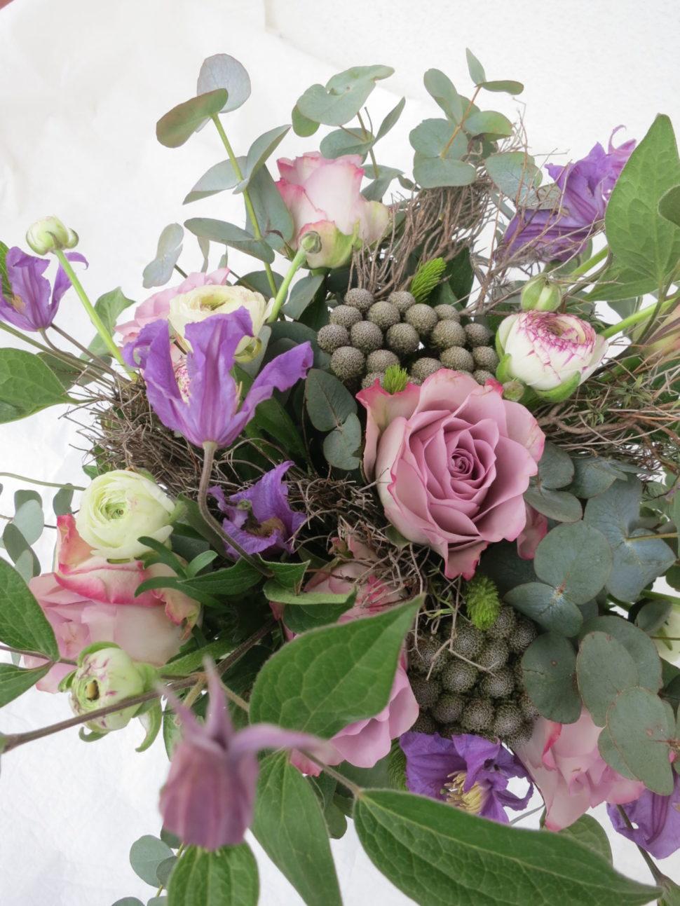 fialovorůžová kytice