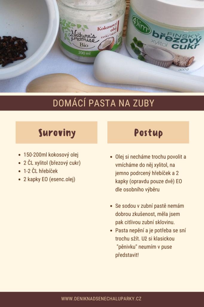 Domácí pasta nazuby